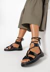 Czarne Sandały Sherah