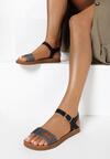 Czarne Sandały Daphirei