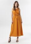 Żółta Sukienka Keladoe