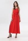 Czerwona Sukienka Keladoe