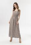 Beżowa Sukienka Evathea
