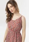 Czerwona Sukienka Evathea
