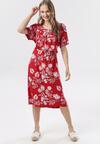 Czerwona Sukienka Laogoria