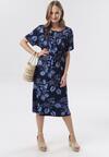 Granatowo-Niebieska Sukienka Laogoria