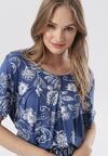 Niebieska Sukienka Laogoria