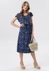 Granatowo-Niebieska Sukienka Sereirial