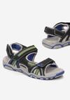 Czarno-Niebieskie Sandały Corraegana