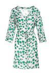 Biało-Zielona Sukienka Aqealise