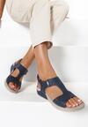Granatowe Sandały Guinerien