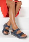 Granatowe Sandały Amasura