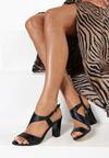Czarne Sandały Elleonore