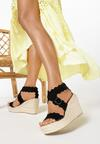 Czarne Sandały Adreanella
