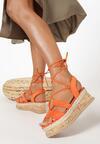 Pomarańczowe Sandały Arriefer