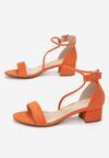 Pomarańczowe Sandały Coraeris