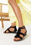Czarne Sandały Cyllene