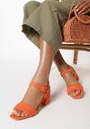 Pomarańczowe Sandały Nonadelia