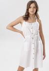 Biała Sukienka Adrielori