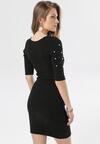 Czarna Sukienka Leucolodia