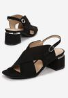 Czarne Sandały Delmatina