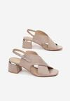 Beżowe Sandały Delmatina
