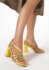 Żółte Wężowe Sandały Aquanore