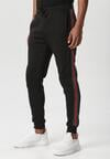 Czarno-Czerwone Spodnie Saloria