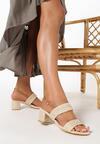 Ciemnobeżowe Sandały Maryrah
