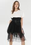 Biało-Czarna Sukienka Nedarea