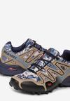 Beżowo-Niebieskie Buty Sportowe Nautinelle