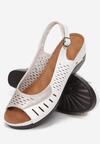Biało-Beżowe Sandały Asirecea