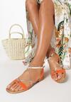 Pomarańczowe Sandały Jenyrial