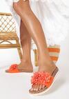 Pomarańczowe Klapki Diolea