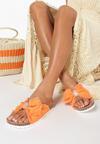 Pomarańczowe Klapki Mayaly