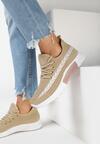 Beżowe Buty Sportowe Palareanes