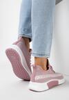 Różowe Buty Sportowe Palareanes
