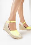 Żółte Neonowe Sandały Sereineh