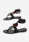 Czarne Sandały Valsharess