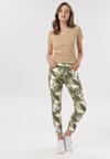 Biało-Zielone Spodnie Asineira