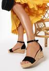 Czarne Sandały Allufer
