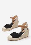 Czarne Sandały Perisine