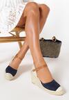 Granatowe Sandały Perisine