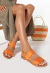 Pomarańczowe Sandały Winnie