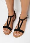 Czarne Sandały Lamemelle
