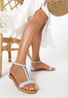 Jasnoniebieskie Sandały Lamemelle