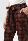 Czarno-Czerwone Spodnie Nedamea