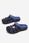 Czarno-Niebieskie Klapki Eirebel