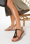 Czarne Sandały Talimala