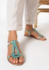 Miętowe Sandały Talimala