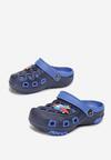 Granatowo-Niebieskie Klapki Ginelei