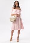 Różowa Sukienka Asilise